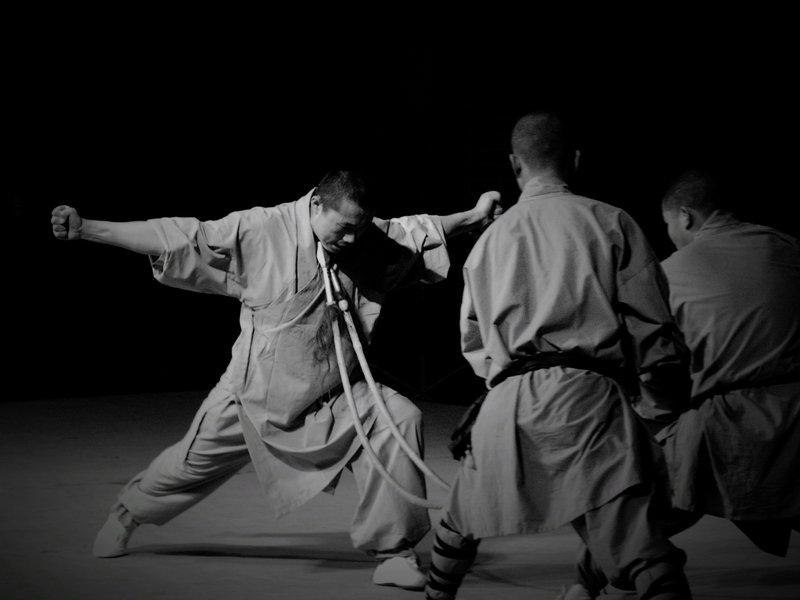 Monges no  Templo Shaolin